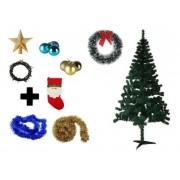 Árvore De Natal Decorada 1,80 Cm 320 Galhos Com 8 Itens