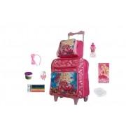 Kit  Mochila Escolar da Barbie -  8 itens