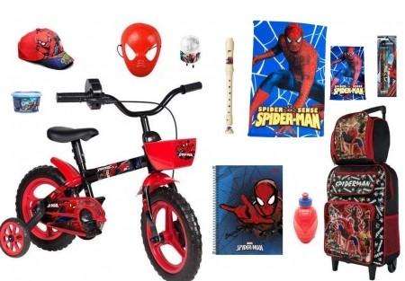 Bicicleta do Homem Aranha c/ 13 Itens