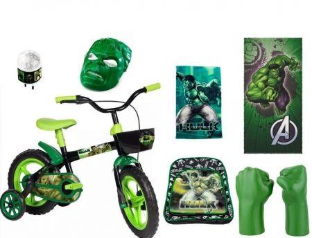 Bicicleta do Hulk & Super Combo c/ 7 Itens  FRETE GRATIS