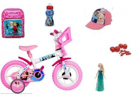 Bicicleta Frozen aro 12 c/ 10 Itens