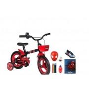 Bicicleta Homem Aranha C/ Tênis - c/ 7 Itens