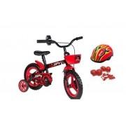 Bicicleta Lady Bug Aro 12 com Capacete e Proteção