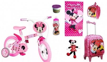 Bicicleta Minnie Aro 12 com 7 Itens