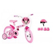 Bicicleta Minnie Aro 12 com Capacete e Proteção