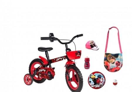 Bicicleta Miraculous com 6 itens
