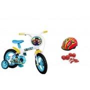 Bicicleta Patrulha Canina Aro 12 com Capacete e Proteção