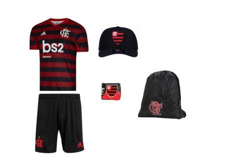 Combo Time - Uniforme e acessórios Flamengo  5 itens