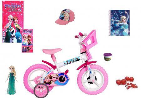 Frozen Bicicleta 8 itens - Aro 12