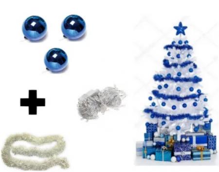 Kit Árvore De Natal Branca - 1,80m