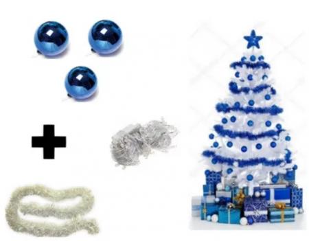 Kit Árvore De Natal Branca - 2,10m