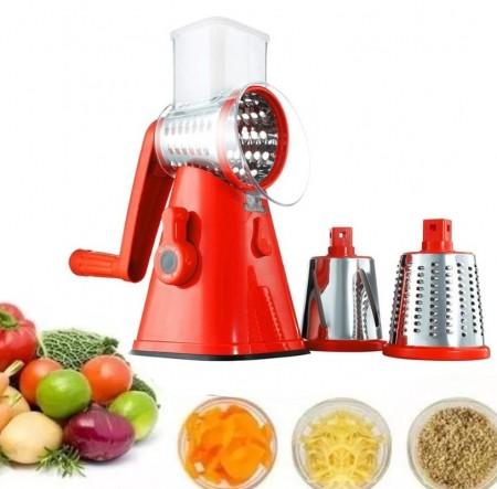 Moedor de Carne Inox + Triturador Manual de Verduras/Frutas