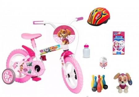 Patrulha Canina Meninas Bicicleta com 6 itens