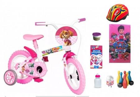 Patrulha Canina Meninas Bicicleta com 7 itens