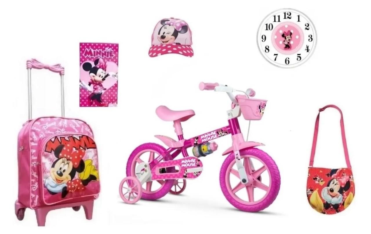 Anuncio Especial: Bicicleta Minnie ARO 16 - 6 itens