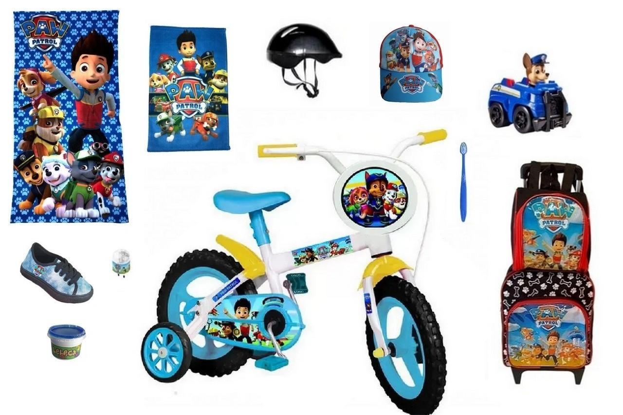 Bicicleta da Patrulha Canina com 12 itens