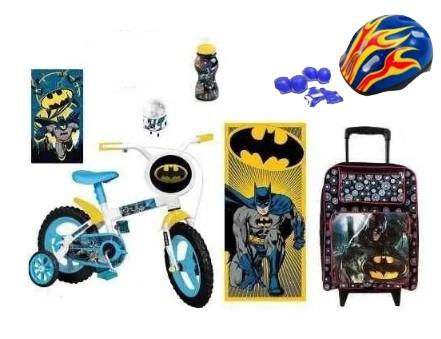 Bicicleta do Batman Aro 12 c/ 8 Itens