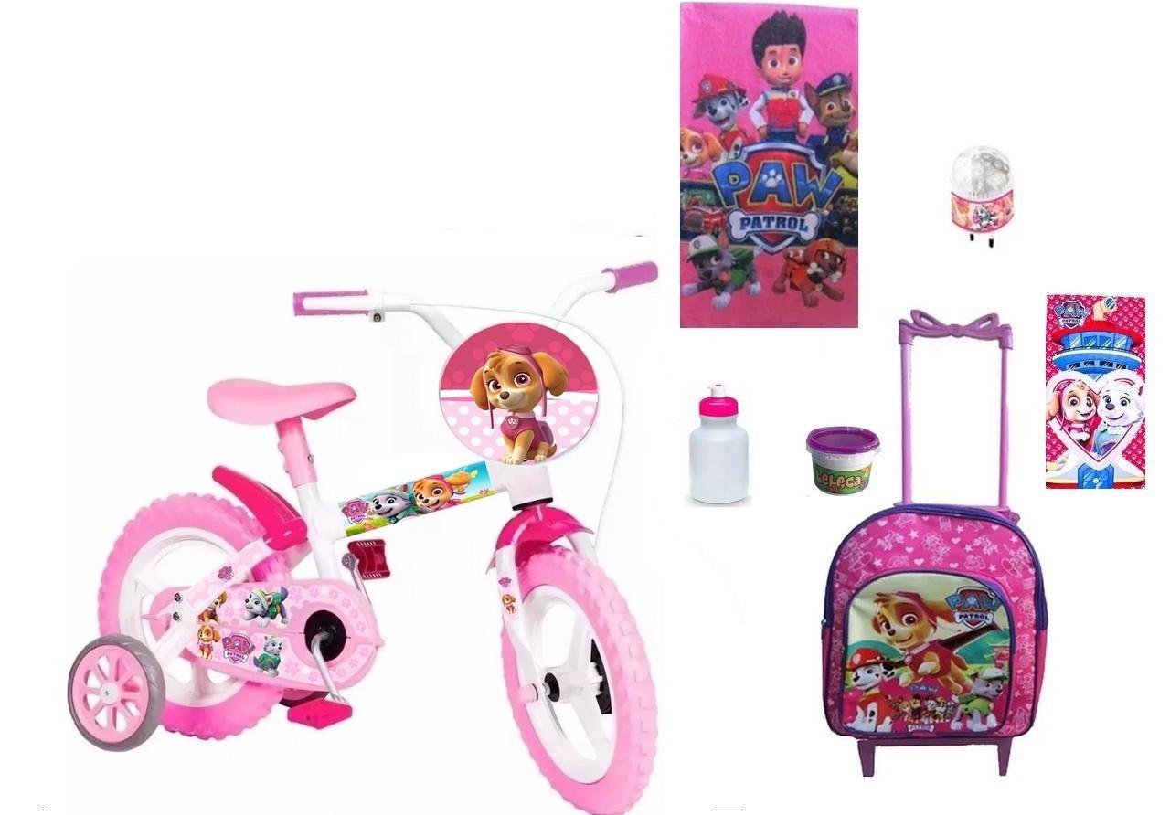 Bicicleta Patrulha Canina Feminina  com 5 itens