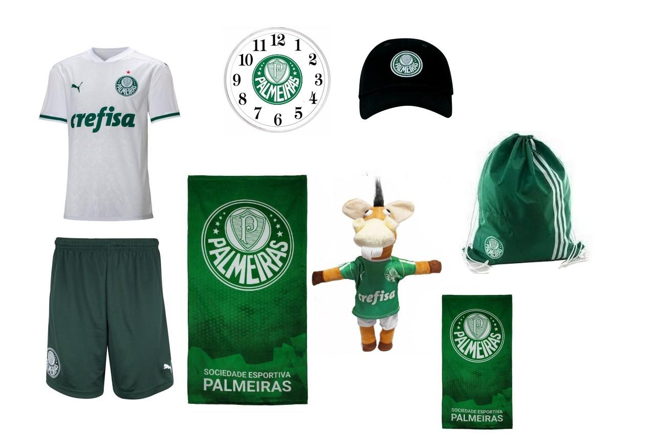 Combo Time - Uniforme e acessórios Palmeiras  8 itens