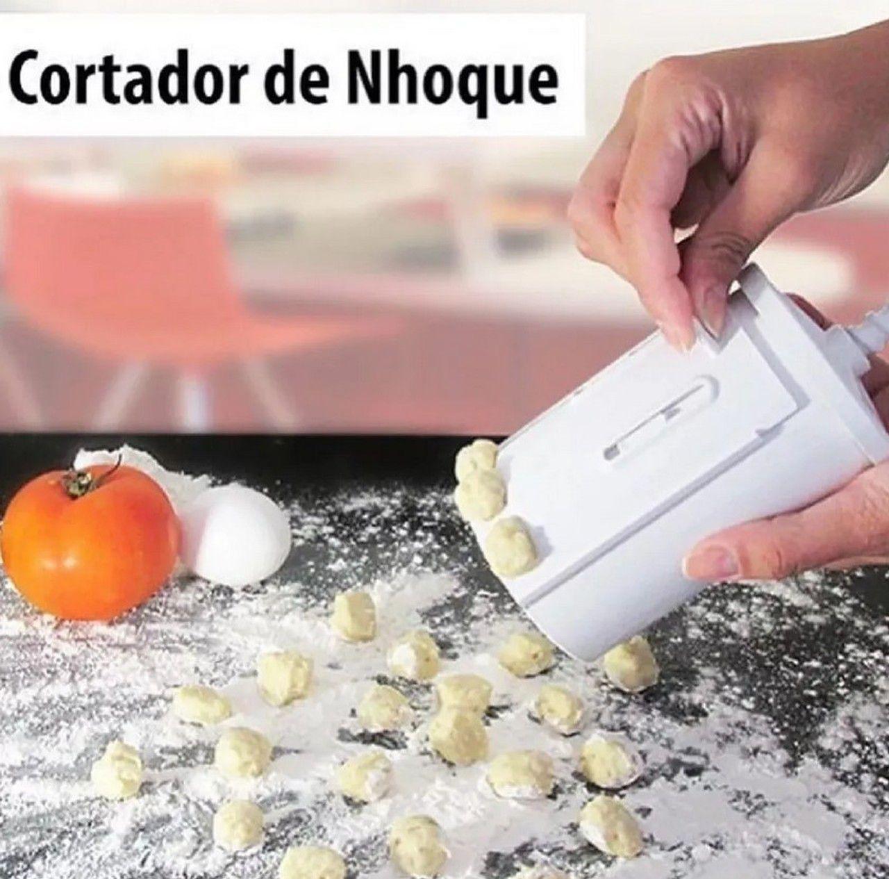 Máquina Manual Cortador Nhoque C/ Escorredor & Brindes
