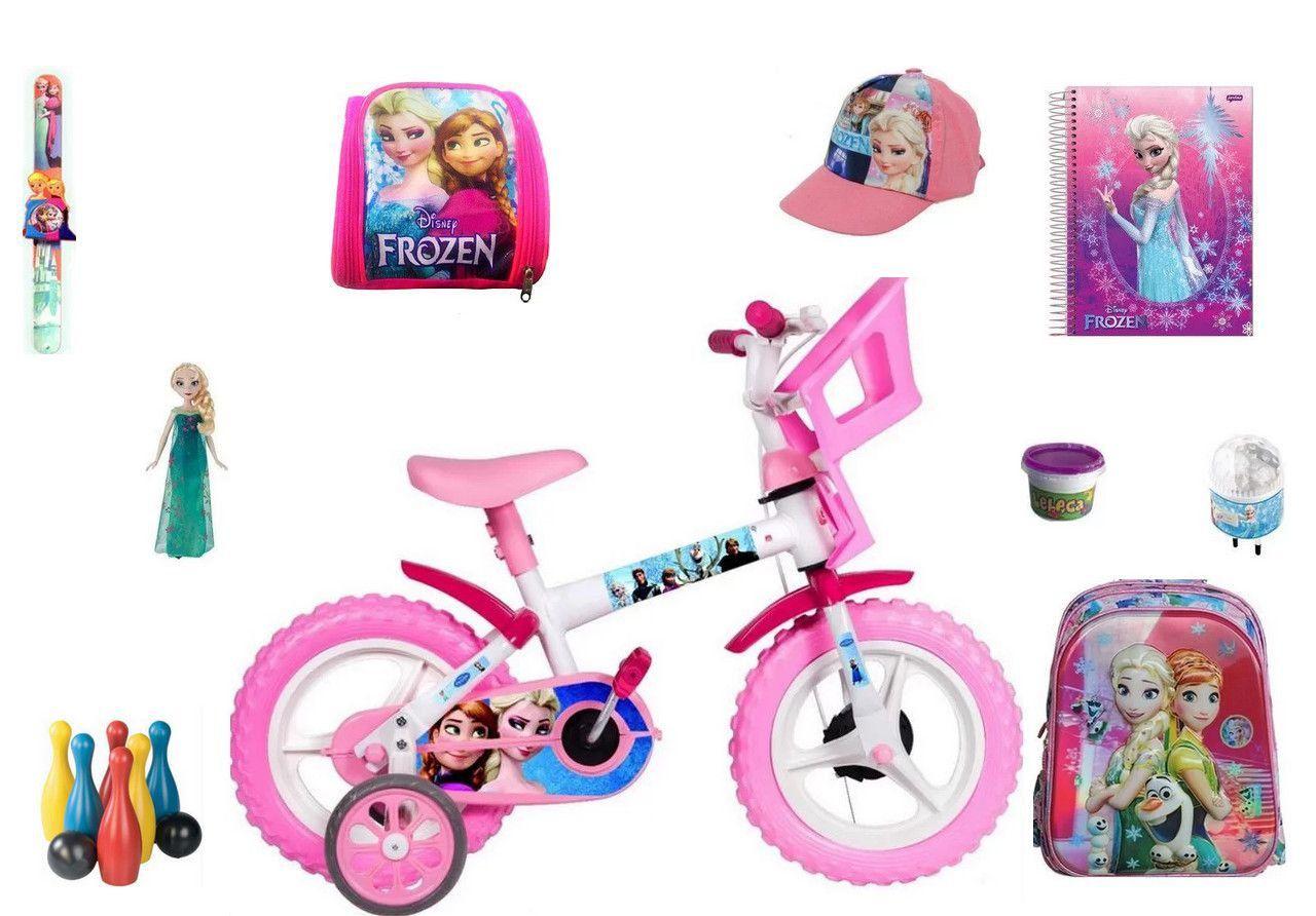 Frozen Bicicleta com 10 itens