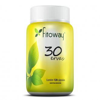 30 ERVAS FITOWAY - 120 CÁPSULAS