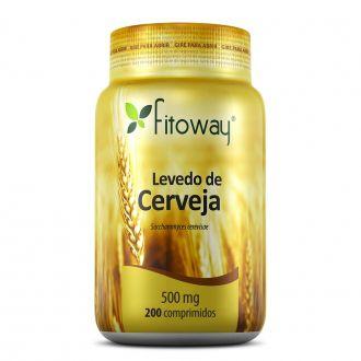 LEVEDO DE CERVEJA FITOWAY 500mg - 200 COMPRIMIDOS