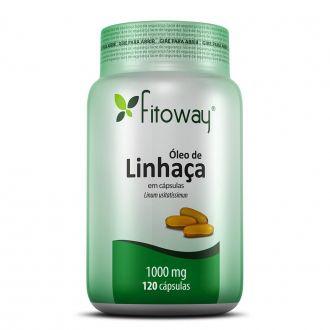 ÓLEO DE LINHAÇA FITOWAY 1.000mg - 120 CÁPS