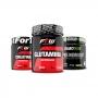 Kit Creatina 300g + Glutamina 1kg + Diabo Verde #Pre-Workout Sabor Maçã Verde - FTW