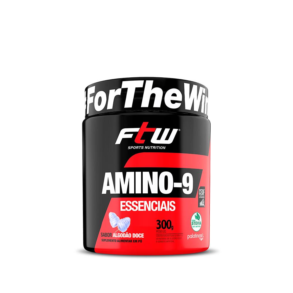 Amino-9 Essenciais Sabor Algodão Doce 300g - FTW
