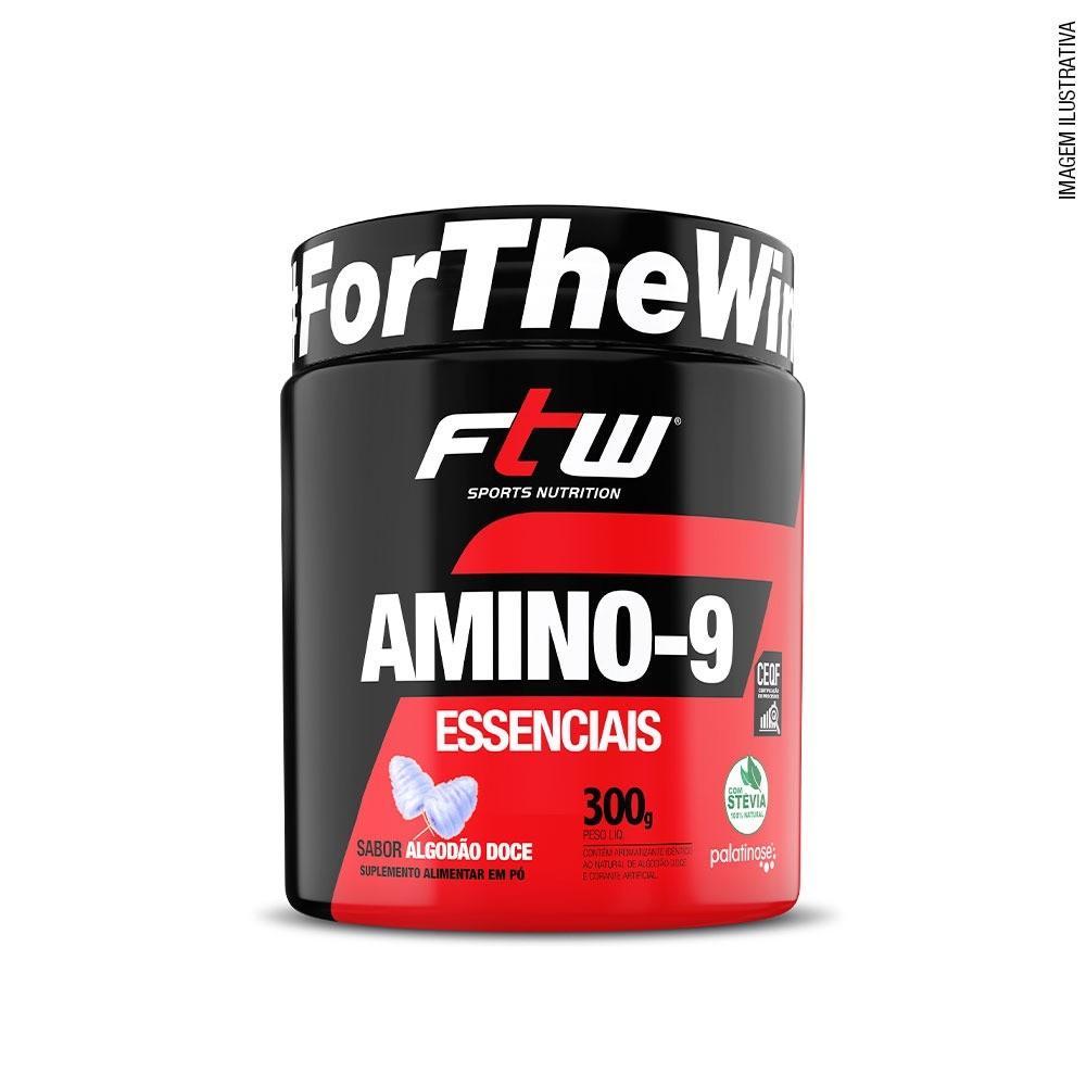 Amino- 9 Essenciais Sabor Algodão Doce 300g - FTW