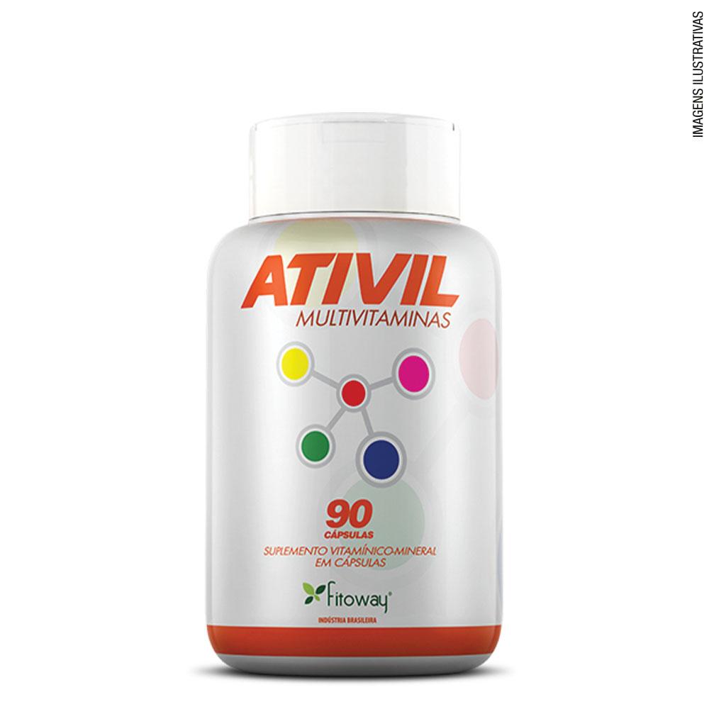 Ativil Multivitaminas 90 cáps - Fitoway