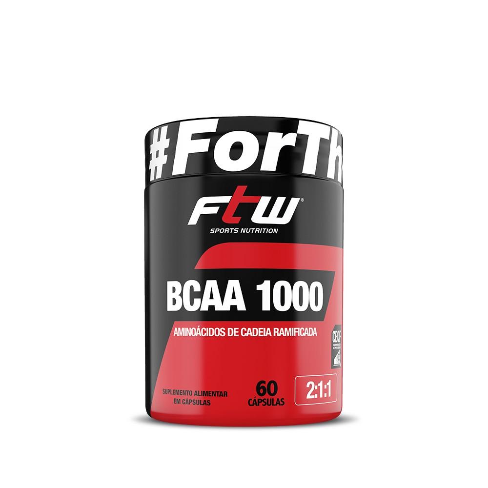 BCAA 1.000 200mg 60 cáps - FTW