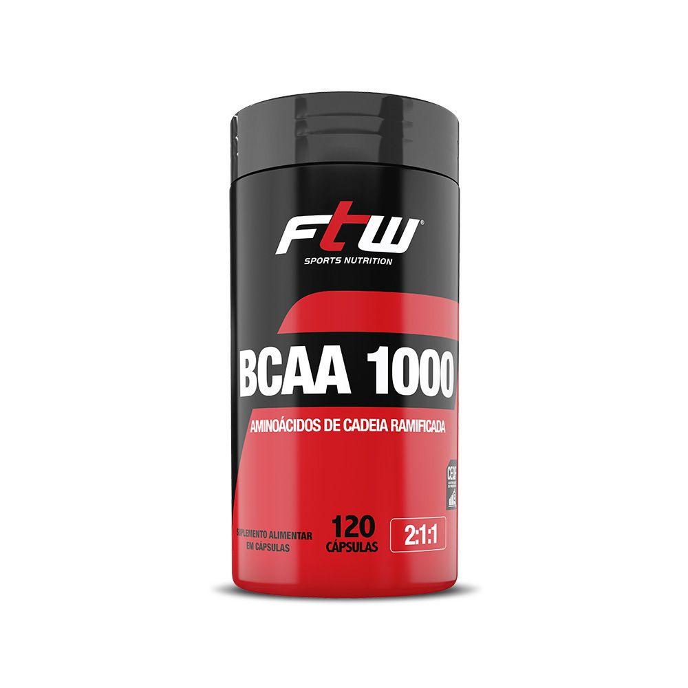 BCAA 1.000 200mg 120 cáps - FTW
