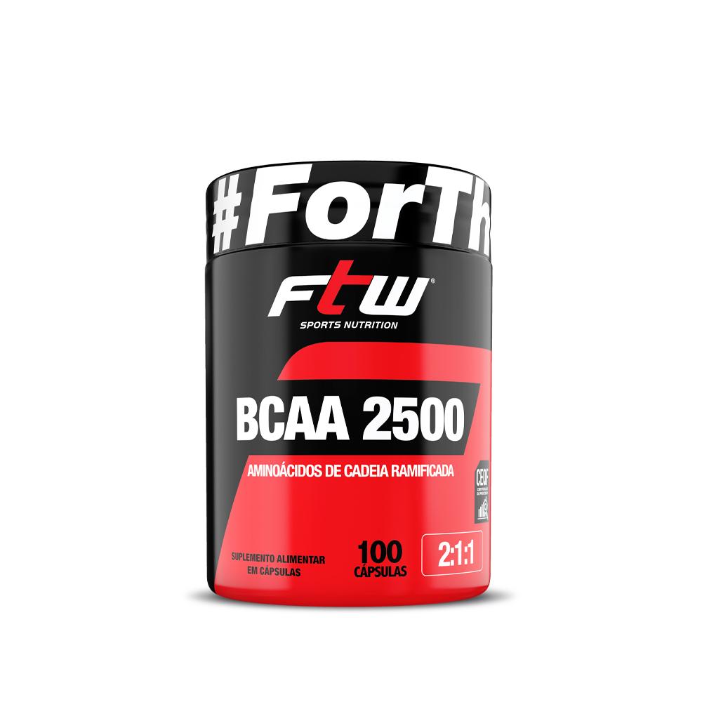 BCAA 2.500 500mg 100 Cáps - FTW