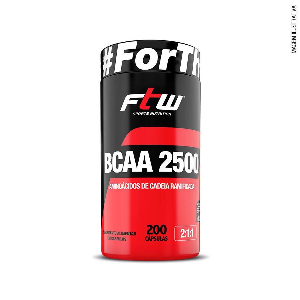 BCAA 2.500 500mg 200 Cáps - FTW