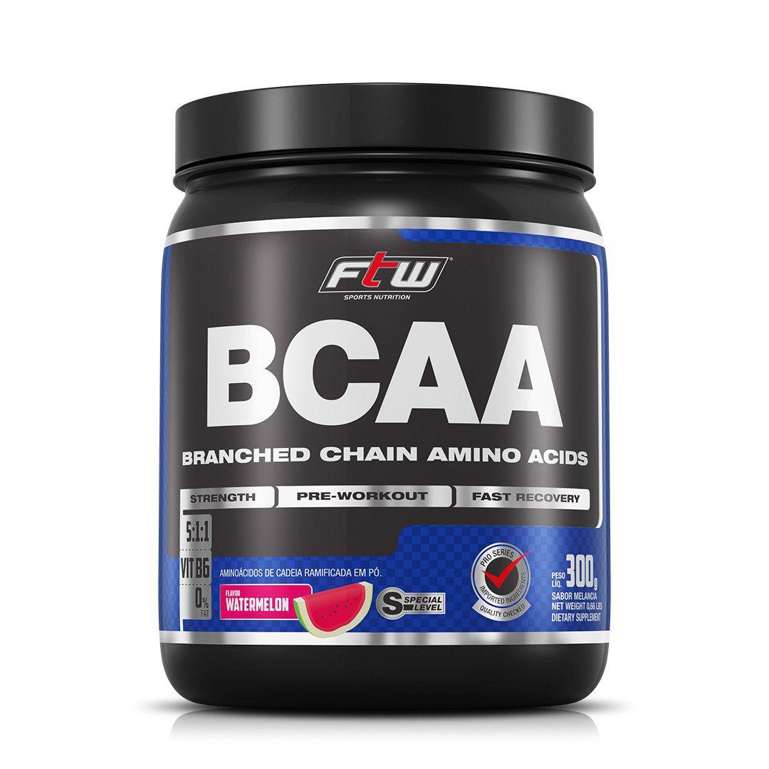 BCAA FTW 300g - MELANCIA ou UVA