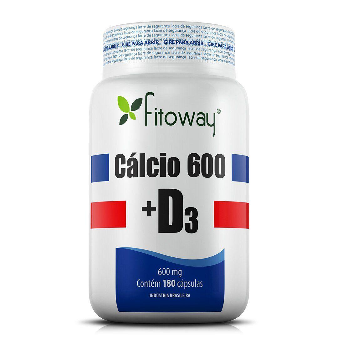 CÁLCIO 600 + D3 FITOWAY - 180 CAPS