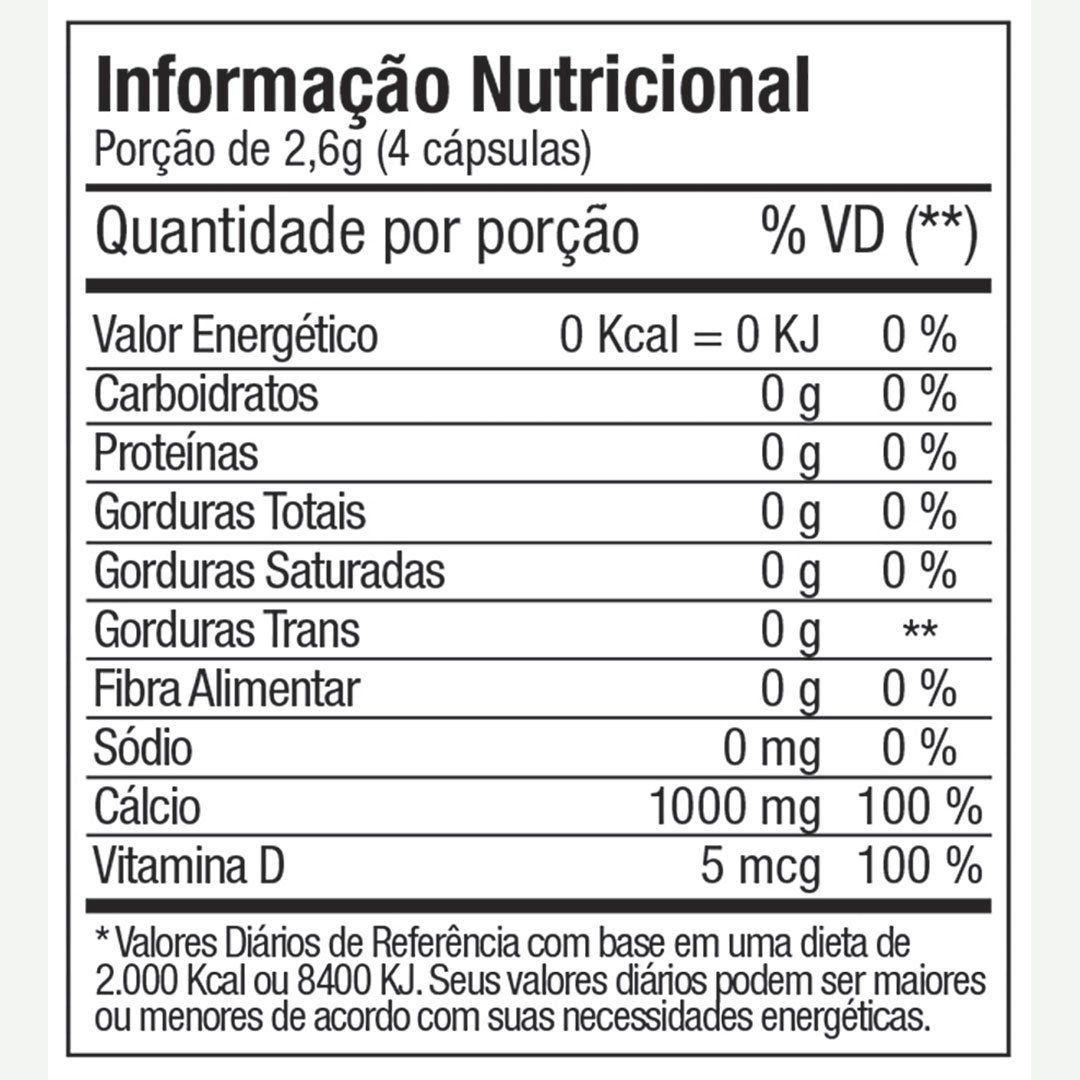 CÁLCIO 600 + D3 FITOWAY FARMA - 60 CAPS