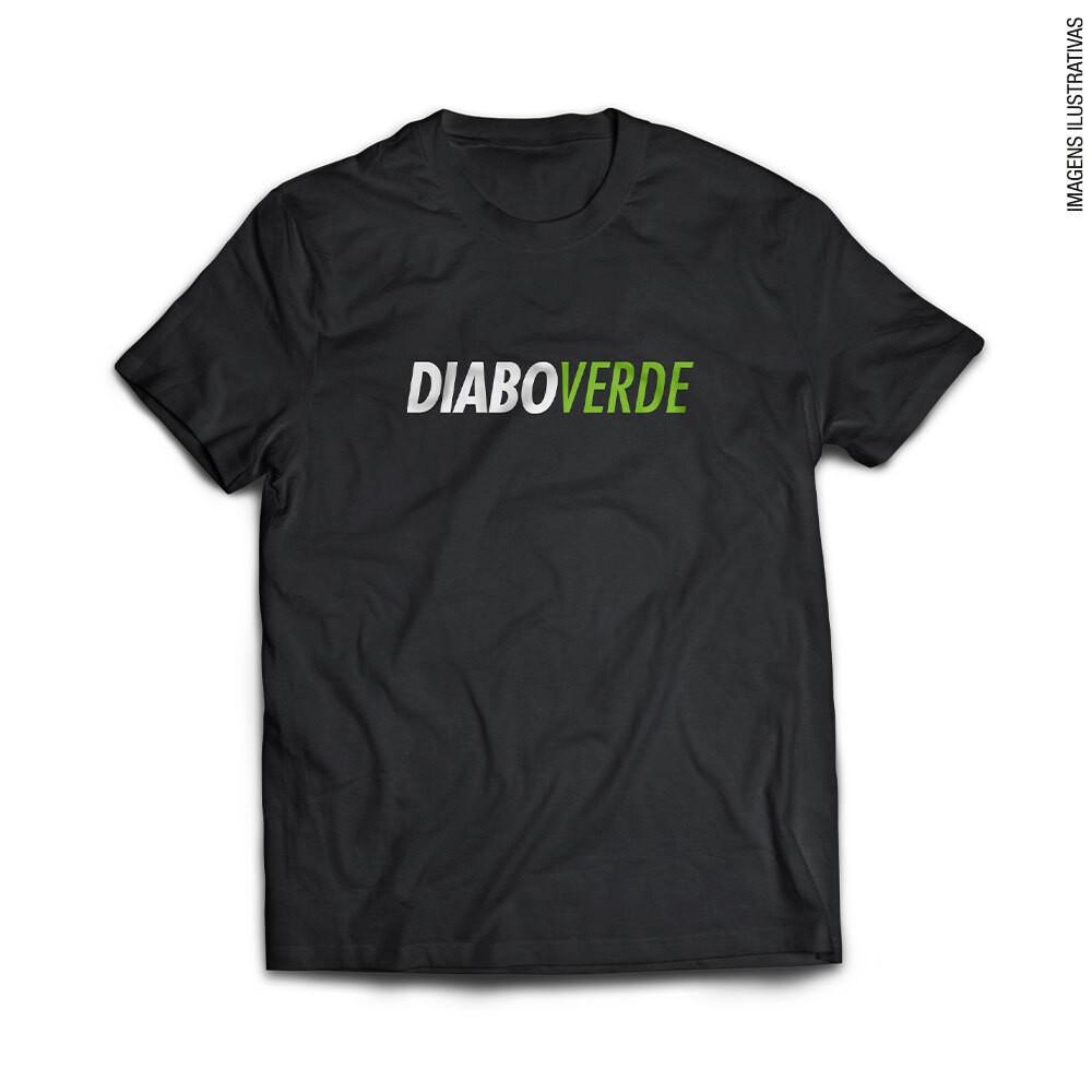 Camiseta Diabo Verde Dry Fit Preta - FTW