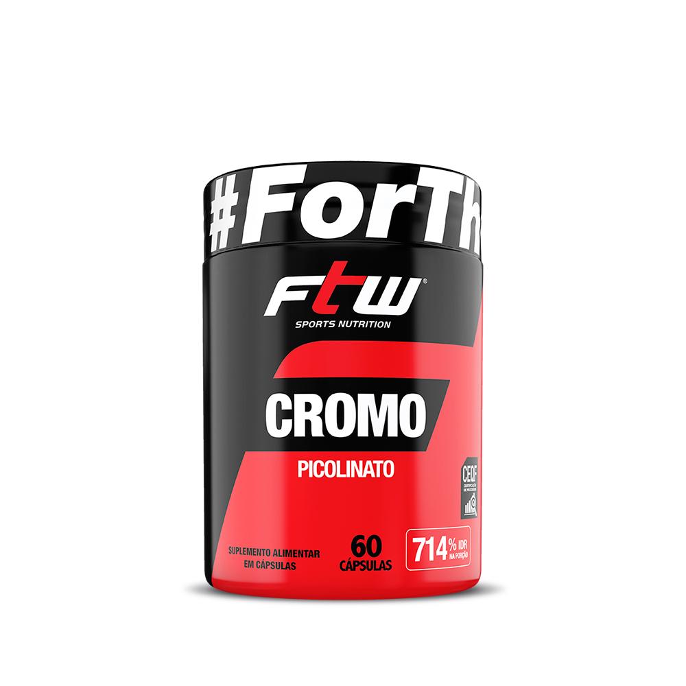 Cromo Picolinato 250mcg 60 cáps - FTW