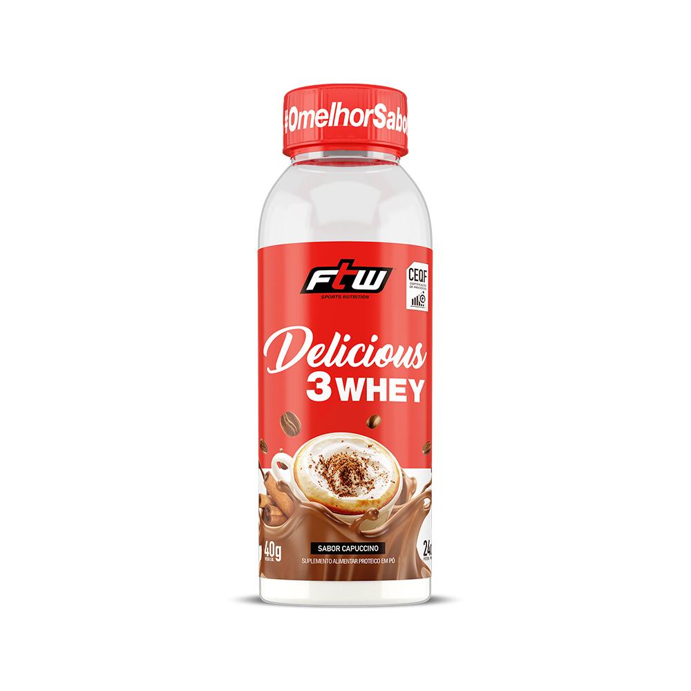 Delicious 3 Whey Capuccino Dose Única 40g - FTW