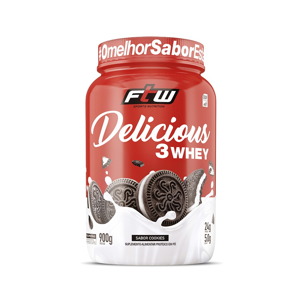 Delicious 3 Whey Cookies 900g - FTW