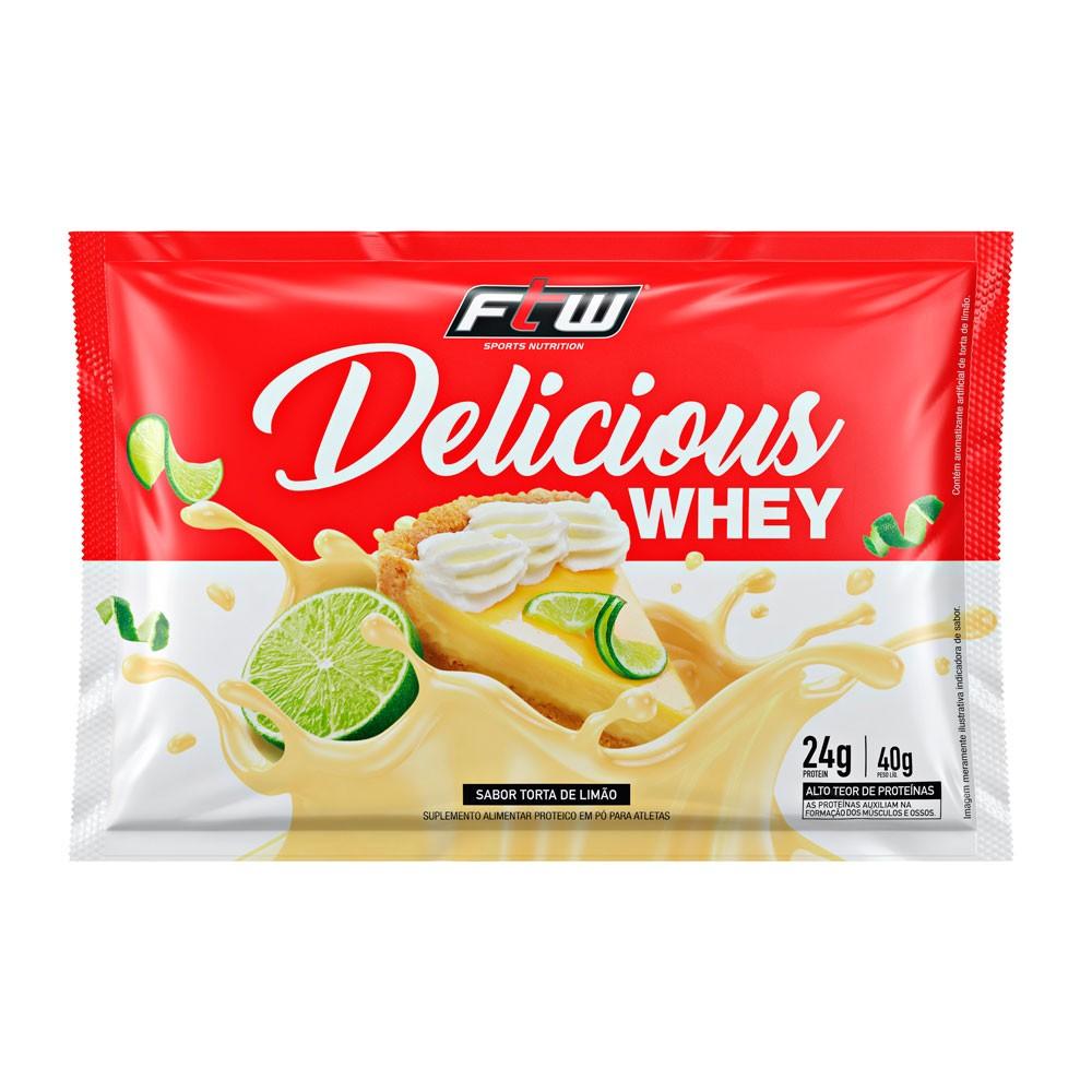 Delicious 3 Whey Sabor Torta de Limão sachê 40g - FTW