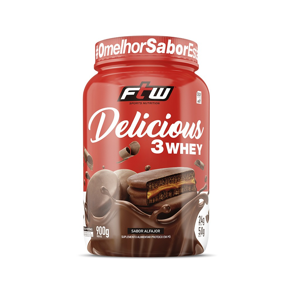 Delicious 3Whey Alfajor 900g - FTW