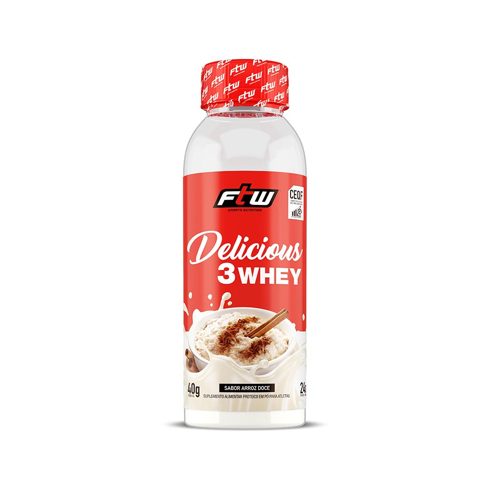 Delicious 3Whey Arroz Doce Dose Única 40g - FTW