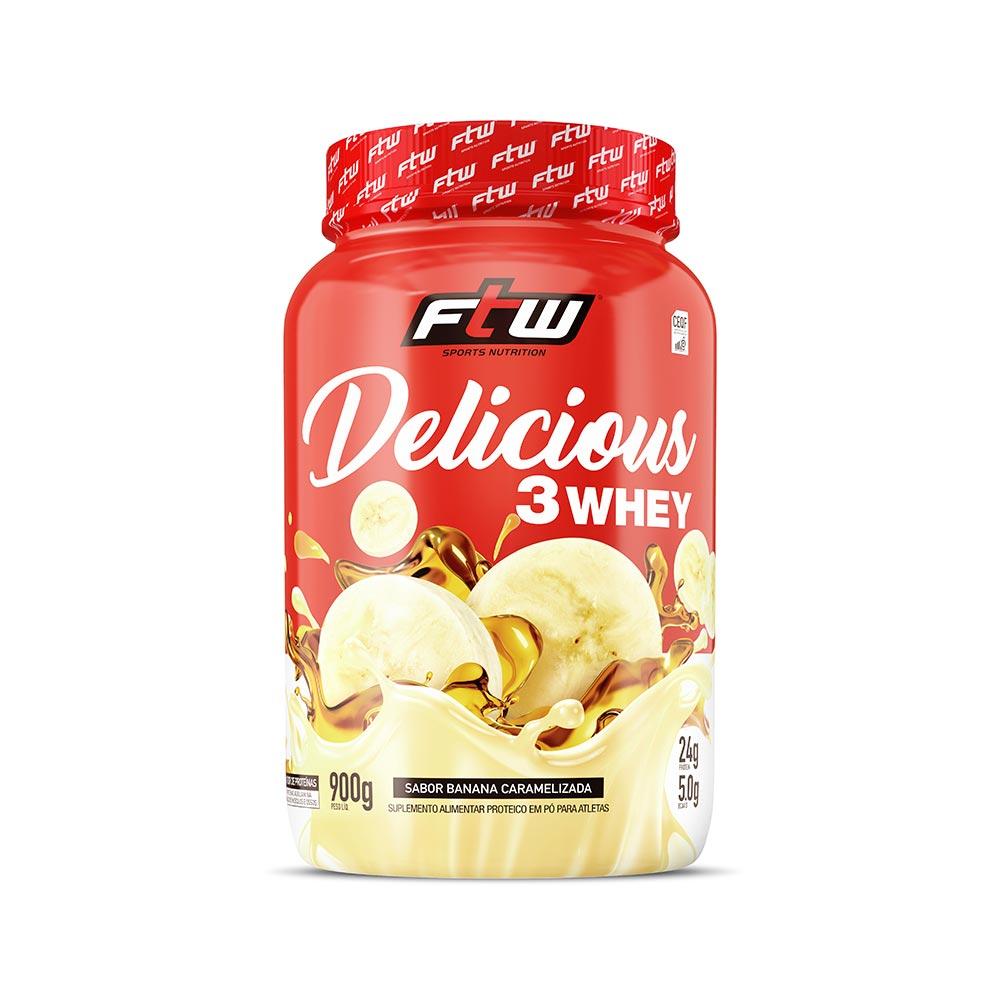 Delicious 3Whey Banana Caramelizada 900g - FTW