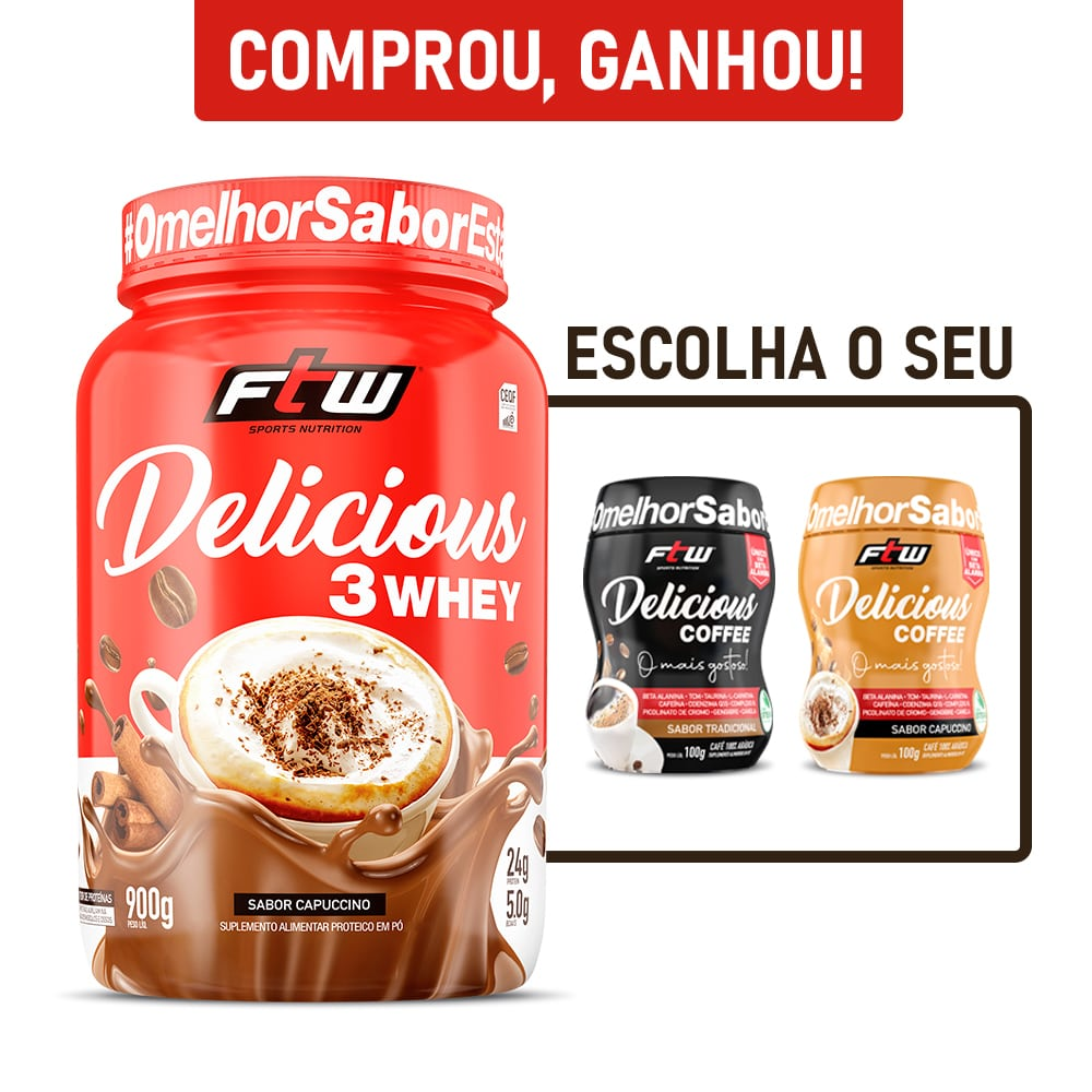 Delicious 3Whey Capuccino 900g - FTW