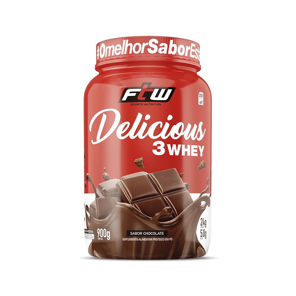 Delicious 3Whey Chocolate 900g - FTW