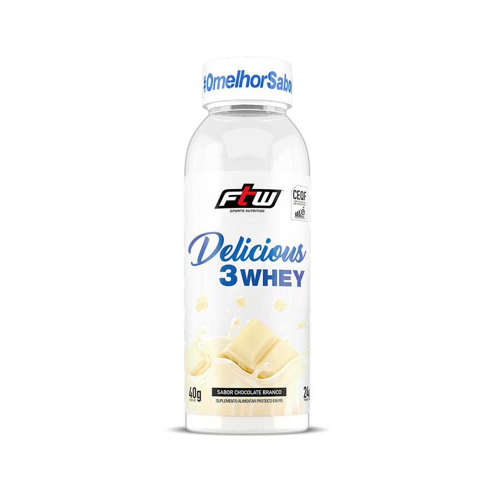 Delicious 3Whey Chocolate Branco Dose Única 40g - FTW